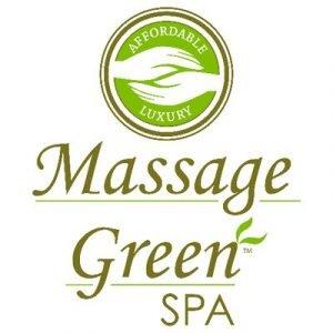 massage green spa logo